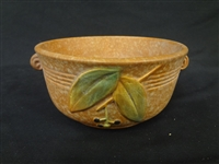"Weller Pottery Bowl ""Cornish"" Pattern Brown"