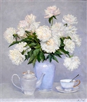 "Andrei Mishov (Russian 1969) Oil On Canvas ""White Peonies"" 2010"