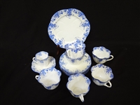 "Shelley Bone China ""Dainty Blue"" Tea Cups and Saucers"