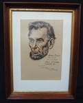 Lloyd Ostendorf Original Charcoal Drawing Abraham Lincoln