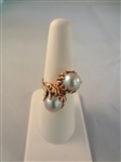 14k Gold Smoky Pearl Ring