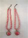 (2) Carolyn Pollack Sterling Silver And Rhodochrosite Necklaces