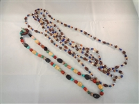 (4) Carolyn Pollack Sterling Silver and Multi Color Stone Necklaces