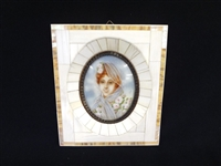 Attributed to Jean Baptiste Isabey (France 1767-1855) Watercolor Portrait Miniature