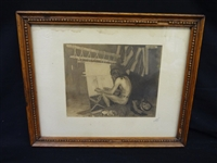 "George DeForest Brush ""Indian Weaving"" Photogravure Eddowes Photographers"