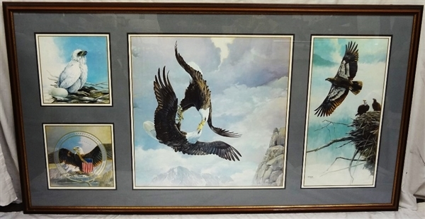 Mario Fernandez (Cuban 1946-2012) Story of the Eagle Signed Lithograph