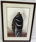 Robert Redbird Kiowa Native American Original Airbrush Watercolor