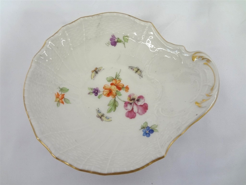 KPM Hand Painted Platter and Trinket Dish Early 20th Century