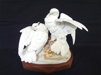 Cybis Turtle Doves of Peace Sculpture Figural Group