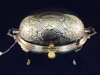 William Hutton and Son Silver Plate Serving Tureen with Roll A Way Lid
