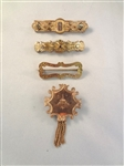 (4) Victorian Gold Filled Mourning Bar Brooches