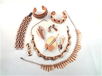 Renoir Copper Jewelry Group: Necklaces, bracelets, Brooches, and Earrings