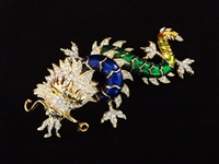 Butler and Wilson 1960s Enameled Dragon Brooch