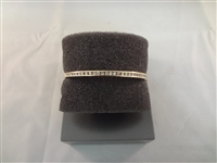 14k Gold And Diamond Bangle Bracelet .9 carats
