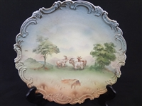 Royal Bayreuth Bavaria Linen Finish Goats Plate
