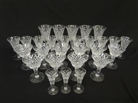 "Hawkes Glass Stemware ""Delft Diamond"" Group of 28"