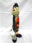 Large Murano Art Glass Clown 14.5""