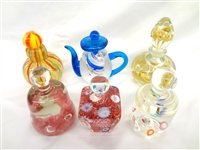 (6) Unsigned Glass Paperweights