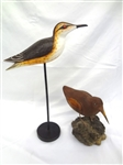 (2) Water Bird Hand Carved and Painted Decoys