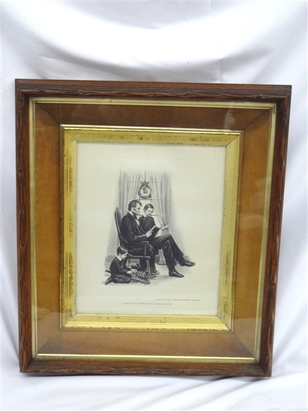 Deep Well Walnut Frame with Ostendorf Lincoln Print