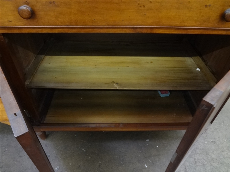 New England Step Back Primitive Break Front Cabinet