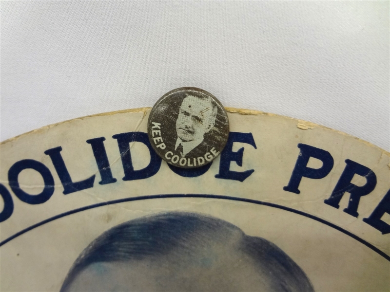 Calvin Coolidge Re-Election Campaign Ephemera Tickets, Button Collection