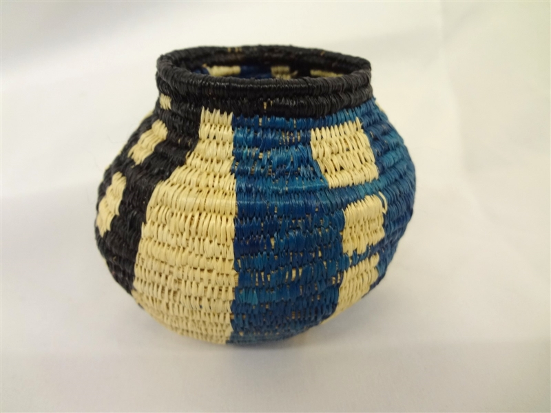 Small Wounaan Darien Rainforest Panama Weaved Basket