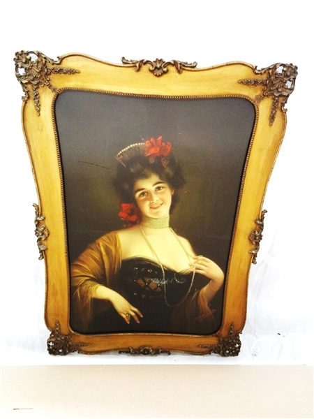 Victorian Lithograph Female Portrait B. Zickendruht