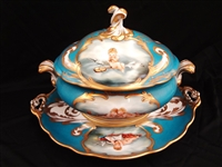 Tiche Porcelain Tureen and Underplate Signed F. Sanvito