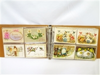 Binder Full of Over 125 Turn of the Century Easter, and Animal Postcards