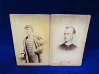 (2) Civil War CDV Cards: Jonas A. Emery, Unknown Soldier