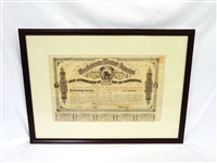 Framed Confederate States of America $1000 Bond Sheet