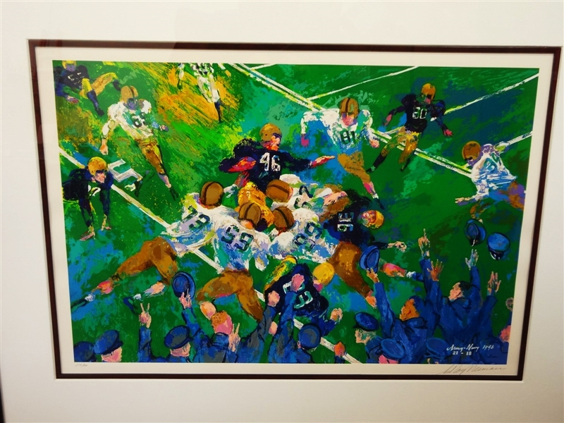LeRoy Nieman Signed and Numbered Serigraph 279/300 Army Navy Game