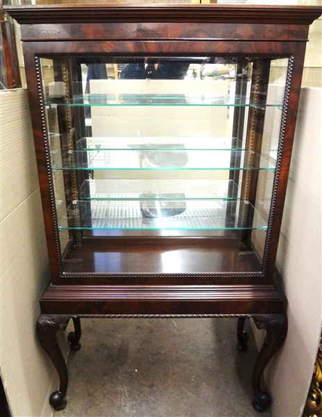 Queen Anne Style Vitrine on Legs One Complete Sliding Door