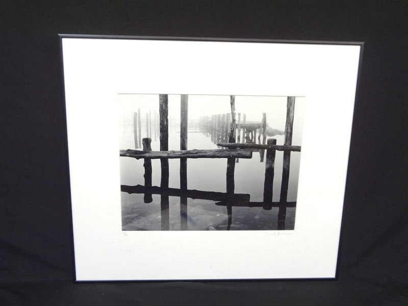 Daniel Jones Original Photograph Pilings in Fog 1999