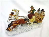 "Alsbach Scheibe Porcelain Figural Group ""Napoleon Escape From Russia"""
