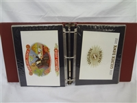 Calhouns Collector Society Lithograph Cigar Labels in Binder