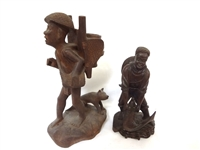 (2) Ethnic Folk Art Carved Figurines