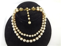 Miriam Haskell Faux Pearls Choker
