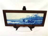 Joost Thooft Labouchere Delft Long Tile Framed
