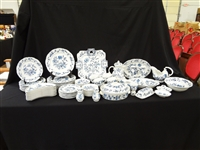 Blue Danube China Set Service For 8 Plus Extras