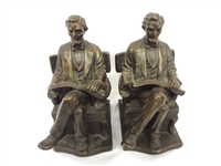 1920s Beneduce Bronzed Abraham Lincoln Bookends