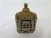 Cast Iron Still Bank AC Williams Domed Small Bank