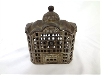 Cast Iron Still Bank AC Williams Domed Large Bank