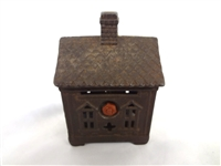 Cast Iron Still Bank JE Stevens One Story House 1903