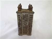 Cast Iron Still Bank AC Williams Skyscraper Medium