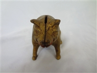 Cast Iron Still Bank Pig