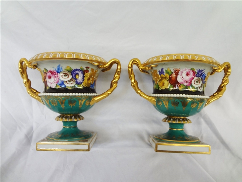 Pair of Flight And Barr Worcester Porcelain Urns