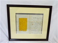 Civil War Letter James H. Taylor to Father with Envelope Framed Dual Sided