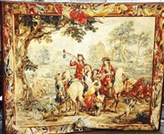 20th Century Aubusson Style Oversize French Wall Tapestry
